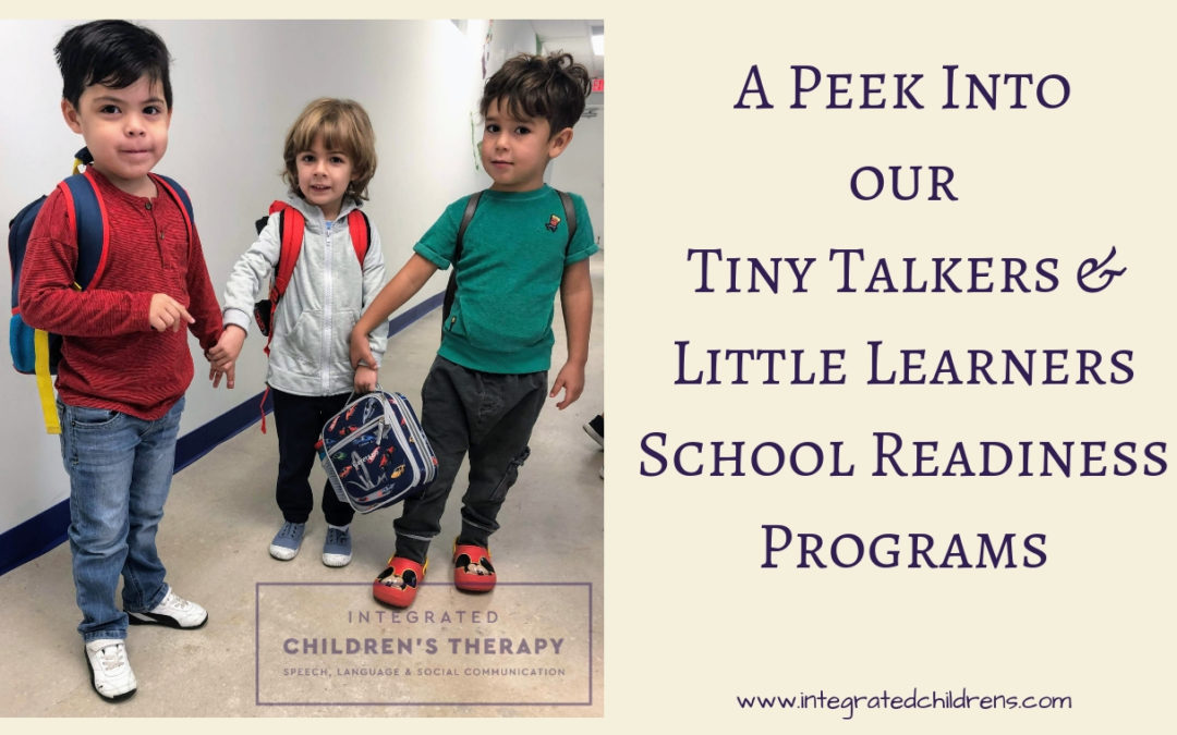 A Peek Into Our Tiny Talkers & Little Learners School Readiness Programs